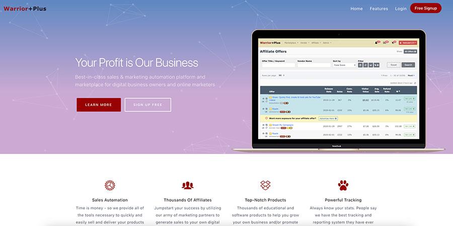 WarriorPlus Homepage